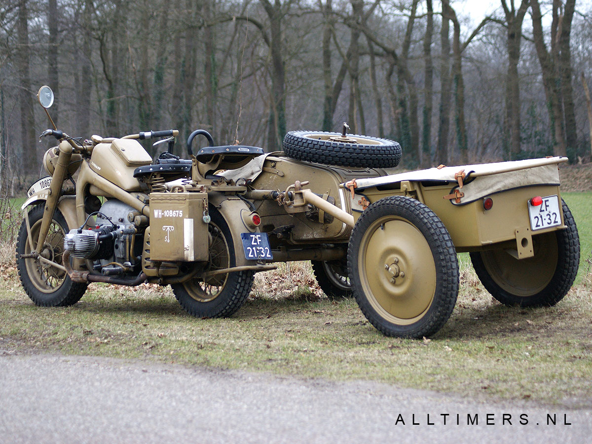 German Ww  Zundapp And Side Car